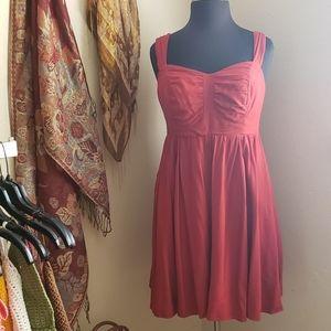 Burnt Orange Torrid Babydoll Sleeveless Dress